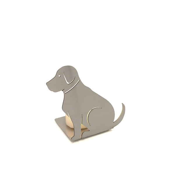 RVS kaarthouder hond
