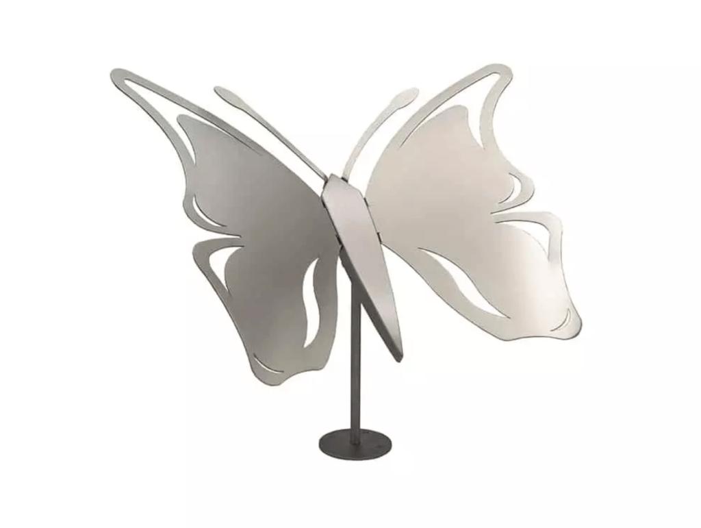 RVS urn - Vlinder